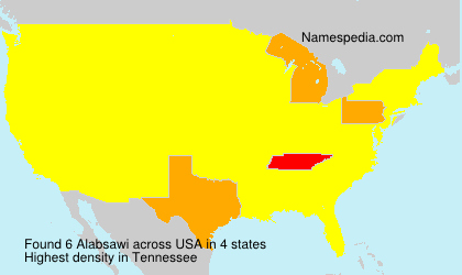 Surname Alabsawi in USA