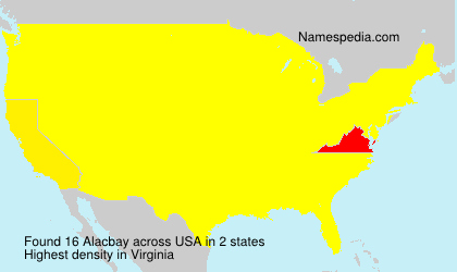 Surname Alacbay in USA