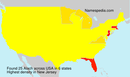 Surname Alach in USA
