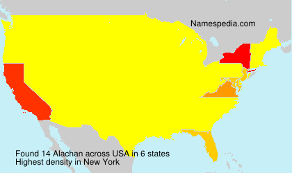 Surname Alachan in USA
