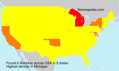 Surname Alachkar in USA