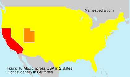 Surname Alacio in USA