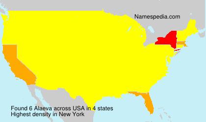 Surname Alaeva in USA