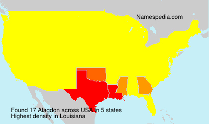 Surname Alagdon in USA
