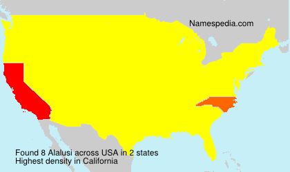 Surname Alalusi in USA
