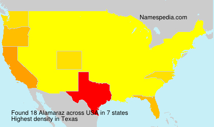 Surname Alamaraz in USA
