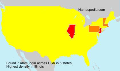 Surname Alamuddin in USA
