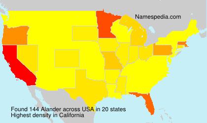 Surname Alander in USA