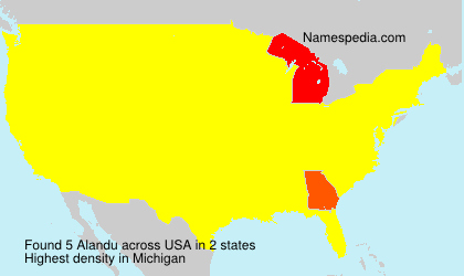 Surname Alandu in USA