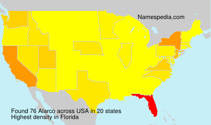 Surname Alarco in USA