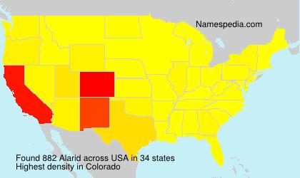 Familiennamen Alarid - USA