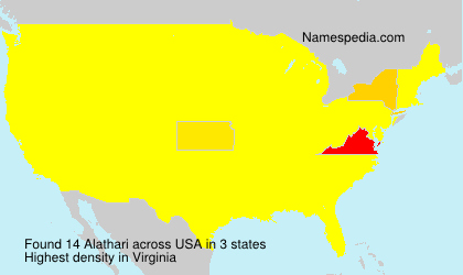 Surname Alathari in USA