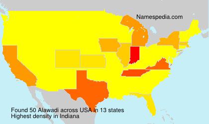 Surname Alawadi in USA