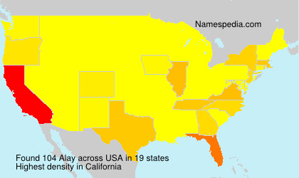 Surname Alay in USA