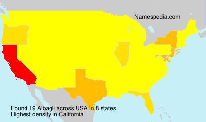 Surname Albagli in USA