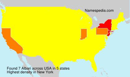 Surname Albari in USA