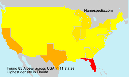 Surname Albear in USA