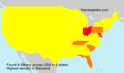Surname Albeny in USA