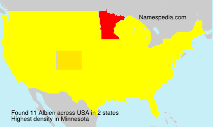 Surname Albien in USA