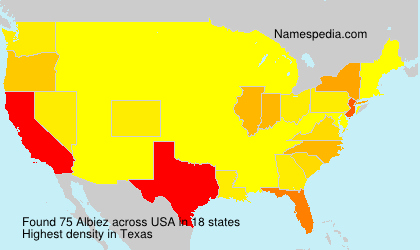 Surname Albiez in USA