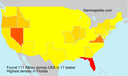 Surname Albisu in USA