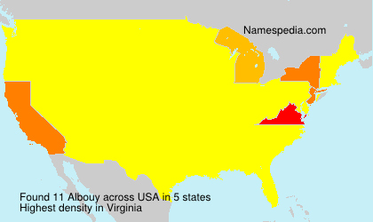 Surname Albouy in USA