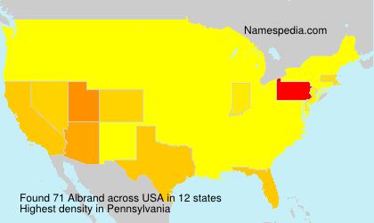Surname Albrand in USA