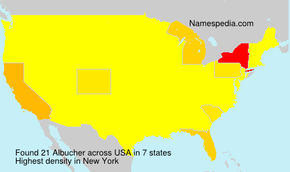 Surname Albucher in USA