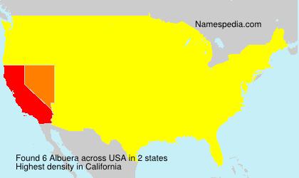 Familiennamen Albuera - USA