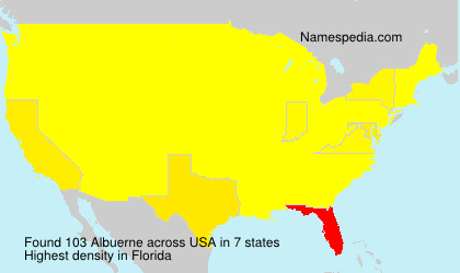 Surname Albuerne in USA