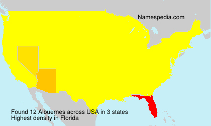 Surname Albuernes in USA