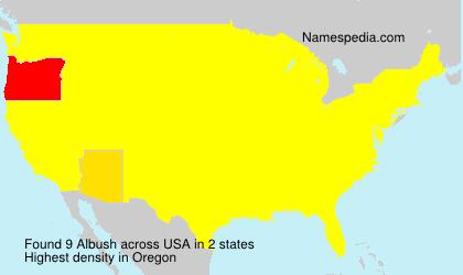 Surname Albush in USA