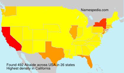 Surname Alcaide in USA