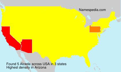 Surname Alceda in USA