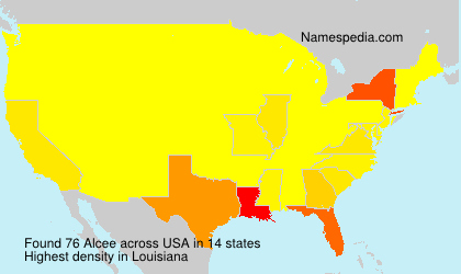 Surname Alcee in USA
