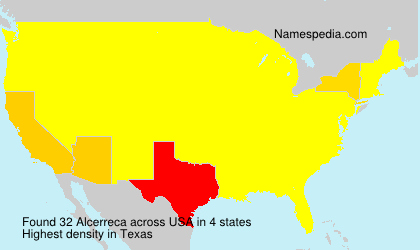 Surname Alcerreca in USA