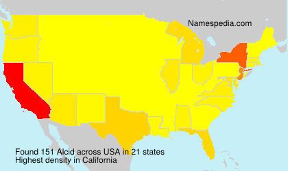 Surname Alcid in USA
