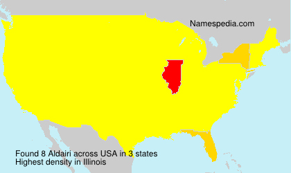Surname Aldairi in USA