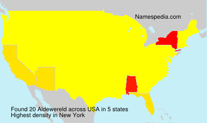 Surname Aldewereld in USA