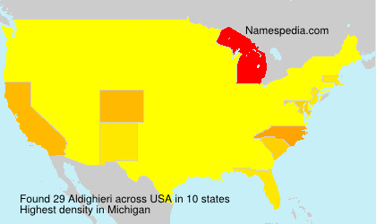Surname Aldighieri in USA