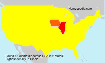 Surname Aldmeyer in USA