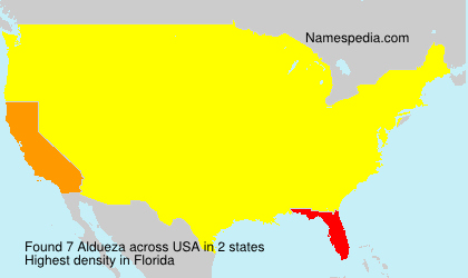 Surname Aldueza in USA