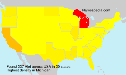 Surname Alef in USA