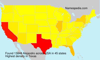 Surname Alejandro in USA