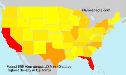 Surname Alen in USA