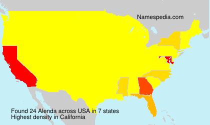 Surname Alenda in USA