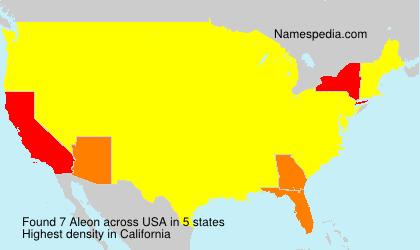 Surname Aleon in USA