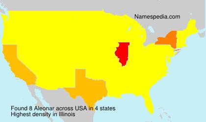 Familiennamen Aleonar - USA