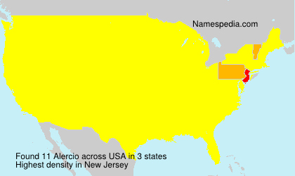 Familiennamen Alercio - USA