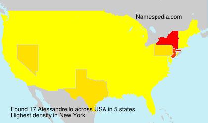 Familiennamen Alessandrello - USA